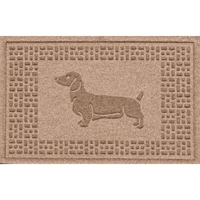 Conway Dachshund Doormat Color: Medium Brown