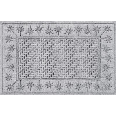 Aqua Shield Island Palms Doormat Color: White