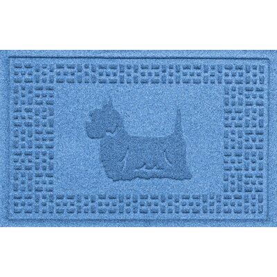 Aqua Shield Yorkie Doormat Color: Medium Blue