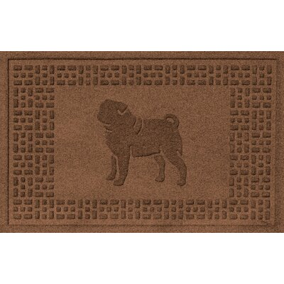 Conway Pug Doormat Color: Dark Brown