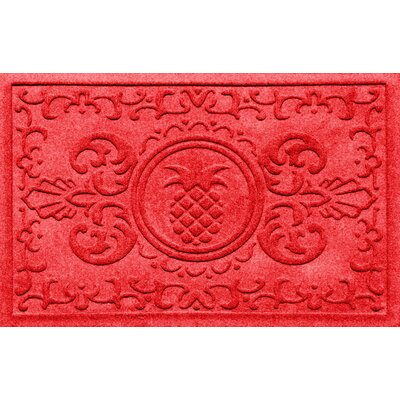 Aqua Shield Baroque Pineapple Doormat Color: Solid Red