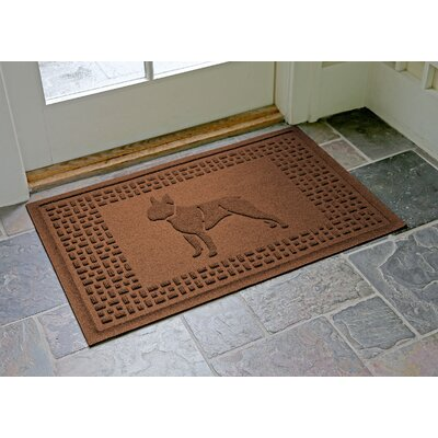 Conway Boston Terrier Doormat Color: Dark Brown