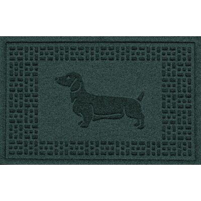 Conway Dachshund Doormat Color: Evergreen