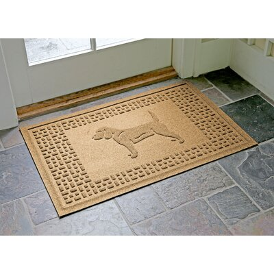 Aqua Shield Beagle Doormat Color: Gold