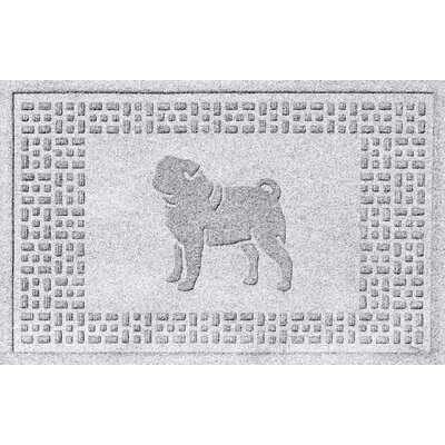 Aqua Shield Pug Doormat Color: White
