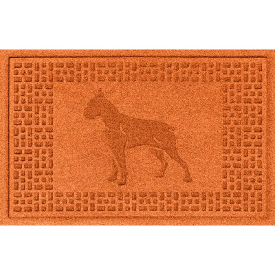Aqua Shield Boxer Doormat Color: Orange