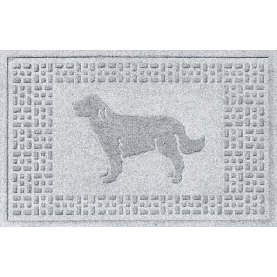 Conway Golden Retriever Doormat Color: White