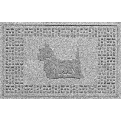 Aqua Shield Yorkie Doormat Color: Medium Gray