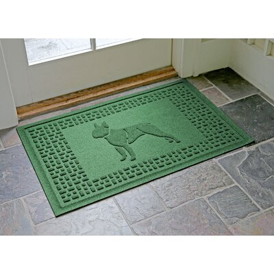 Conway Boston Terrier Doormat Color: Light Green