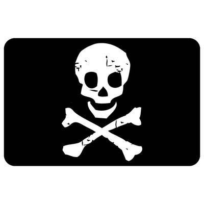 Surfaces Jolly Roger Doormat Mat Size: 111 x 3