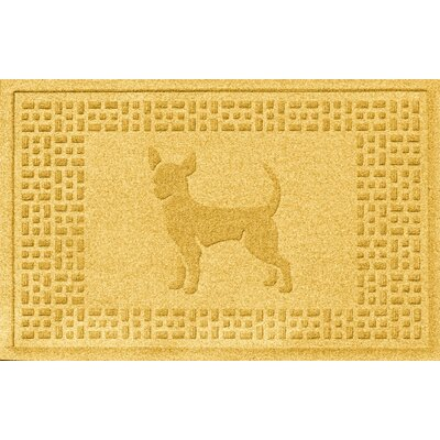 Aqua Shield Chihuahua Doormat Color: Yellow