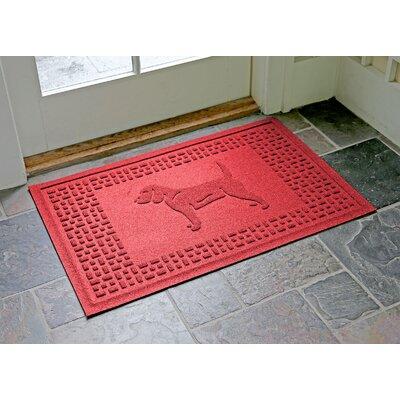 Aqua Shield Beagle Doormat Color: Solid Red