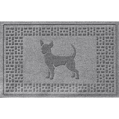 Aqua Shield Chihuahua Doormat Color: Medium Gray