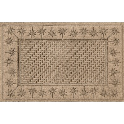 Aqua Shield Island Palms Doormat Color: Camel