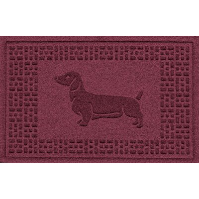 Conway Dachshund Doormat Color: Bordeaux