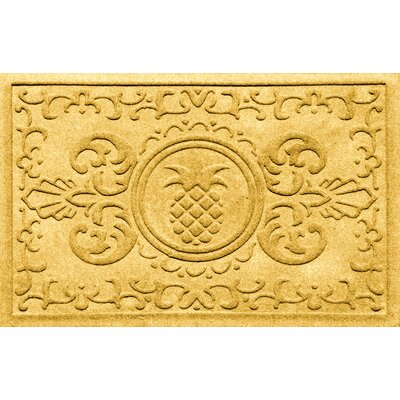 Aqua Shield Baroque Pineapple Doormat Color: Yellow