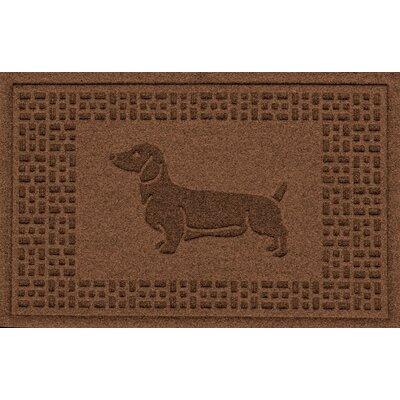 Conway Dachshund Doormat Color: Dark Brown
