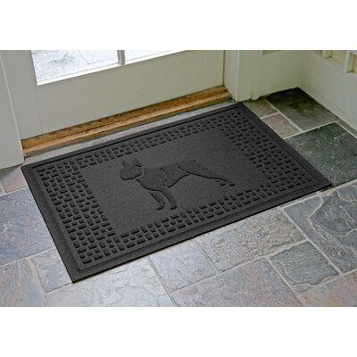 Conway Boston Terrier Doormat Color: Charcoal
