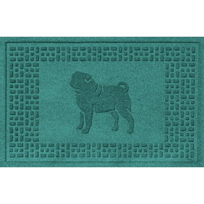 Aqua Shield Pug Doormat Color: Aquamarine