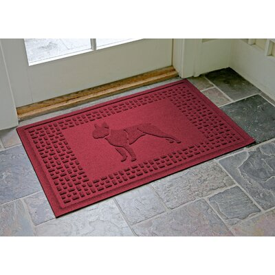 Conway Boston Terrier Doormat Color: Red/Black
