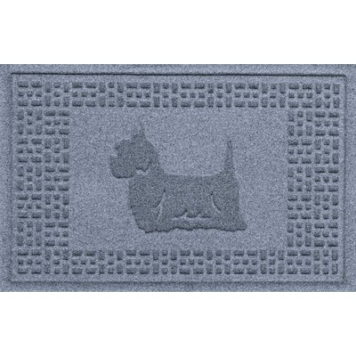Aqua Shield Yorkie Doormat Color: Bluestone