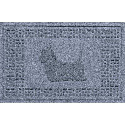 Aqua Shield Yorkie Doormat Color: Bluestone