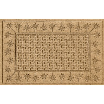 Aqua Shield Island Palms Doormat Color: Gold
