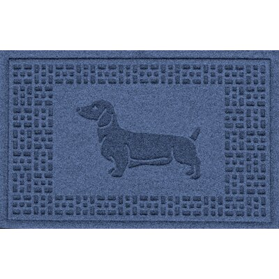 Conway Dachshund Doormat Color: Navy
