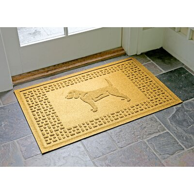 Aqua Shield Beagle Doormat Color: Yellow