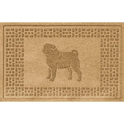 Aqua Shield Pug Doormat Color: Gold