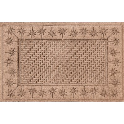 Aqua Shield Island Palms Doormat Color: Medium Brown