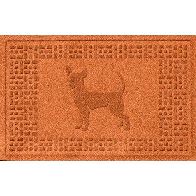 Aqua Shield Chihuahua Doormat Color: Orange