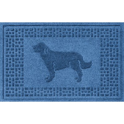 Aqua Shield Golden Retriever Doormat Color: Medium Blue