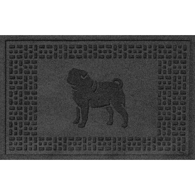 Conway Pug Doormat Color: Charcoal