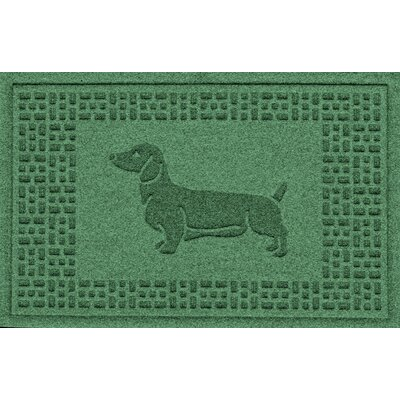Conway Dachshund Doormat Color: Light Green