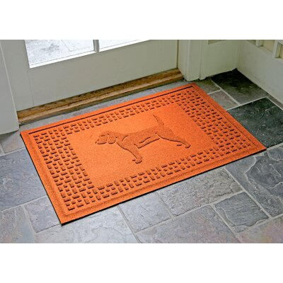 Aqua Shield Beagle Doormat Color: Orange