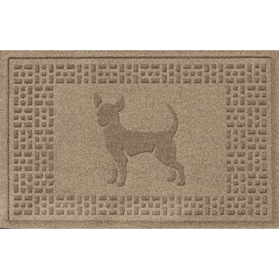 Aqua Shield Chihuahua Doormat Color: Camel