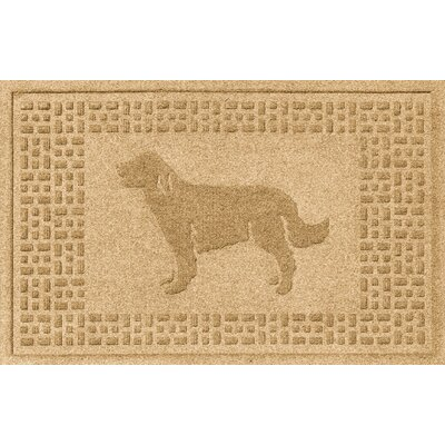 Aqua Shield Golden Retriever Doormat Color: Gold