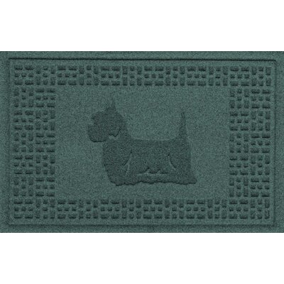 Aqua Shield Yorkie Doormat Color: Evergreen