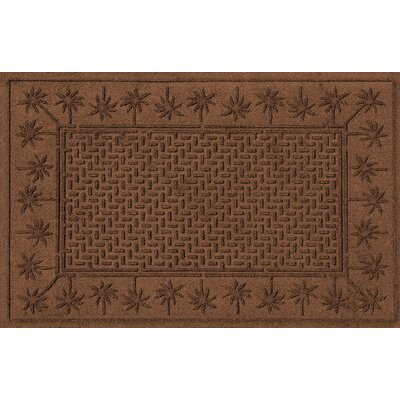 Aqua Shield Island Palms Doormat Color: Dark Brown