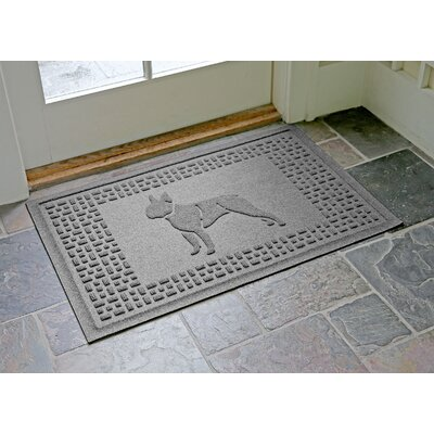 Conway Boston Terrier Doormat Color: Medium Gray