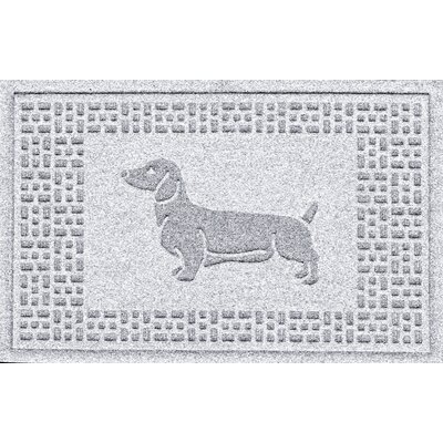 Conway Dachshund Doormat Color: White