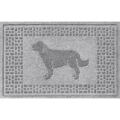 Conway Golden Retriever Doormat Color: Medium Gray