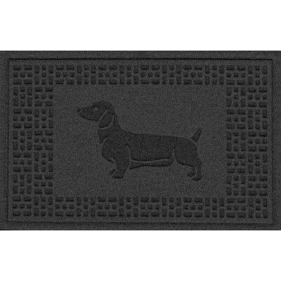 Conway Dachshund Doormat Color: Charcoal