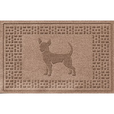Aqua Shield Chihuahua Doormat Color: Medium Brown