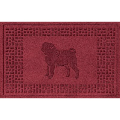 Conway Pug Doormat Color: Red/Black