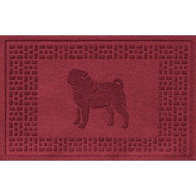 Aqua Shield Pug Doormat Color: Red/Black