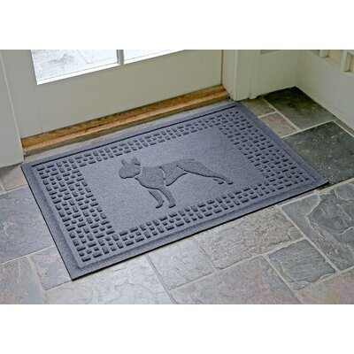 Aqua Shield Boston Terrier Doormat Color: Bluestone