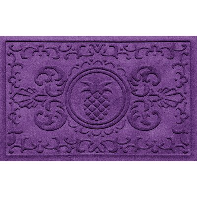 Aqua Shield Baroque Pineapple Doormat Color: Purple