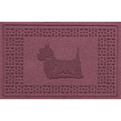 Aqua Shield Yorkie Doormat Color: Bordeaux